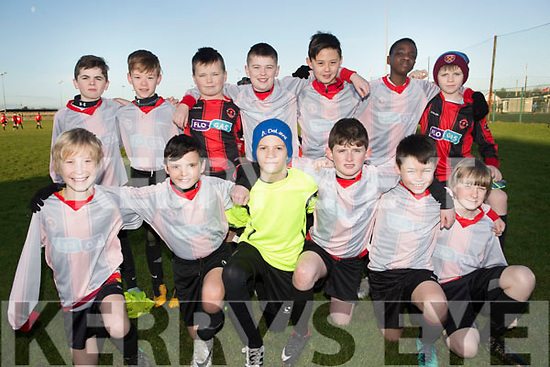 The Brendans Park FC U12 team who played the Tralee Dynamos on Saturday last. Front l-r, Ryan McMahon, Jack Slattery, Oisin O'Halloran, Justin O'Sullivan, Andrew Kerins and Sam Fitzgerald. Back l-r, Marcus Connelly, Nathan Aherne, Erin Poff, Kieran Cavanagh, Seamus Kelly, JJ Olajitan and James Fisher.