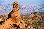 Sandstone tower Lime Ridge, Valley of Fire State Park, Nevada