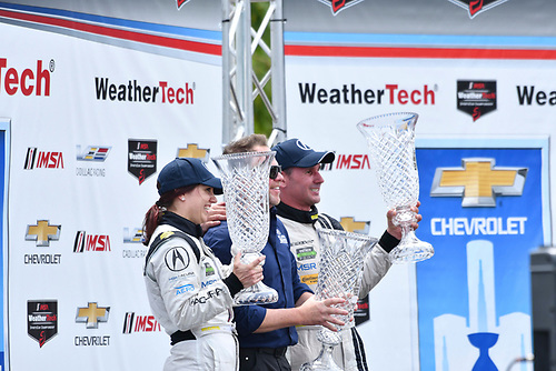 IMSA WeatherTech SportsCar Championship<br /> Chevrolet Sports Car Classic<br /> Detroit Belle Isle Grand Prix, Detroit, MI USA<br /> Saturday 3 June 2017<br /> 93, Acura, Acura NSX, GTD, Andy Lally, Katherine Legge, Michael Shank<br /> World Copyright: Richard Dole<br /> LAT Images<br /> ref: Digital Image RD_DTW_17_0398