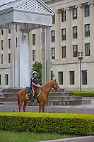 Mounted Policeman at The Plaza, New Jersey Legislative State House, Trenton, New Jersey