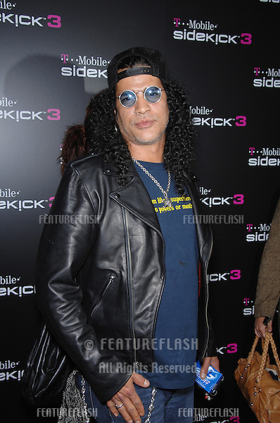 SLASH, of Velvet Revolver & formerly Guns 'n' Roses, at party in Beverly Hills to launch the new limited edition T-Mobile Sidekick 3 designs..October 12, 2006  Los Angeles, CA.Picture: Paul Smith / Featureflash