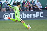 Portland, Oregon - Sunday September 11, 2016: Western New York Flash goalkeeper Sabrina D'Angelo (1) during a regular season National Women's Soccer League (NWSL) match at Providence Park.