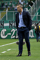 PALMIRA - COLOMBIA, 21-08-2019: Lucas Pusineri técnico del Cali gesticula durante partido entre Deportivo Cali y Atlético Nacional por la fecha 7 de la Liga Águila II 2019 jugado en el estadio Deportivo Cali de la ciudad de Palmira. / Lucas Pusineri coach of Cali gestures during match between Deportivo Cali and Atletico Nacional for the date 7 as part Aguila League II 2019 played at Deportivo Cali stadium in Palmira city. Photo: VizzorImage / Nelson Rios / Cont