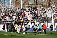 Rayo Vallecano's players and Real Valladolid's players during La Liga  match. February 24,2013.(ALTERPHOTOS/Alconada)