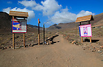 Start of footpath trail from Gran Valle to Cofete, Jandia peninsula, Fuerteventura, Canary Islands, Spain