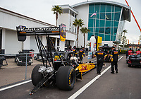 Mar 17, 2019; Gainesville, FL, USA; NHRA top fuel driver Richie Crampton during the Gatornationals at Gainesville Raceway. Mandatory Credit: Mark J. Rebilas-USA TODAY Sports