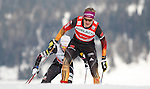 Athletes competes during the FIS Ski World Cup 1.3 Km Sprint Free finals, on February 2, 2014 in Dobbiaco, Toblach.<br /> <br /> &copy; Pierre Teyssot