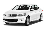 2016 Citroen C-Elysee Confort 4 Door Sedan Angular Front stock photos of front three quarter view
