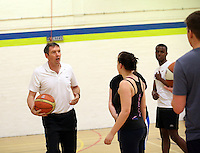 Pictured: Basketball at the sports hall. Friday 26 September 2014<br />