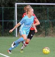 20160824 - GENT , BELGIUM : Gent's Elena Dhont pictured during a friendly game between KAA Gent Ladies and PSV Eindhoven during the preparations for the 2016-2017 season , Wednesday 24 August 2016 ,  PHOTO Dirk Vuylsteke   Sportpix.Be
