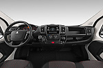 Stock photo of straight dashboard view of 2019 Peugeot Boxer - 2 Door Parcel Van Dashboard