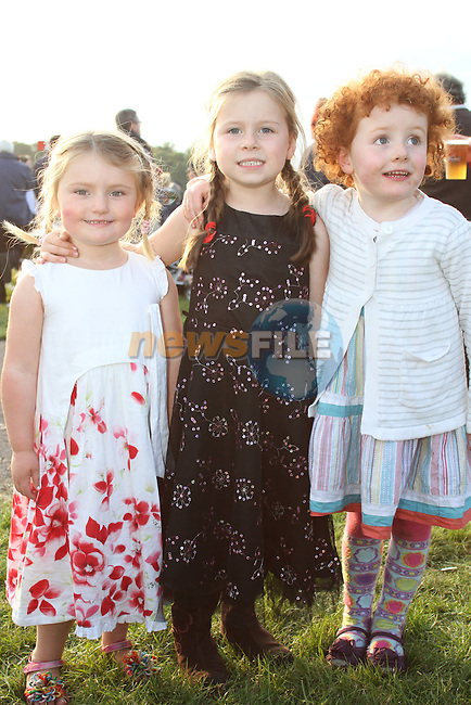 Emma Reddan, Zara Byrne and Emily Kingston at the Bellewstown Races..Picture Jenny Matthews/Newsfile.ie