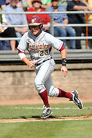 Florida State Seminoles' outfielder James Ramsey#23 during a game versus the Boston College Eagles at Shea Field in Chestnut Hill, Massachesetts on April 14, 2012  (Ken Babbitt/Four Seam Images)