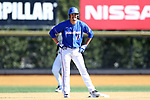 WINSTON-SALEM, NC - MARCH 04: UMass Lowell's Cam Climo. The Wake Forest University Demon Deacons hosted the UMass Lowell River Hawks on March 4, 2018, at David F. Couch Ballpark in Winston-Salem, NC in a Division I College Baseball game. Wake Forest won the game 14-7.