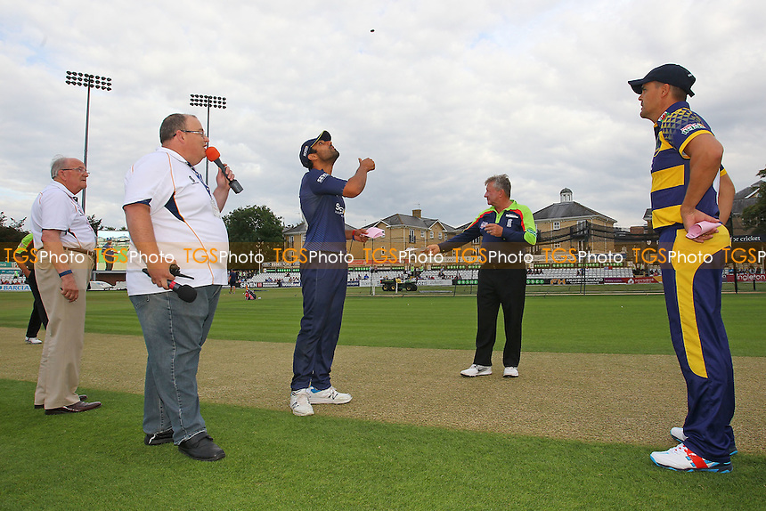 Ravi Bopara of Essex tosses the coin ahead of Essex Eagles vs Glamorgan, NatWest T20 Blast Cricket at the Essex County Ground on 29th July 2016