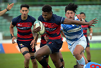 Hastings winger Kini Naholo in action during the 2017 Hurricanes Secondary Schools boys rugby union final between Hastings Boys' High School and St Patrick's College Silverstream at CET Stadium in Palmerston North, New Zealand on Saturday, 2 September 2017. Photo: Dave Lintott / lintottphoto.co.nz