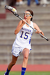 Torrance, CA 05/09/13 - Natalie Cox (Agoura #15) in action during the 2013 Los Angeles area Girls Varsity Lacrosse Championship.  Agoura defeated Oak Park 13-7.