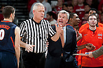 Illinois Fighting Illini Head Coach Bruce Weber argues with an official during a Big Ten Conference NCAA college basketball game against the Wisconsin Badgers on Sunday, March 4, 2012 in Madison, Wisconsin. The Badgers won 70-56. (Photo by David Stluka)