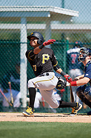 Pittsburgh Pirates Cristian Navarro (73) during a minor league Spring Training game against the Atlanta Braves on March 13, 2018 at Pirate City in Bradenton, Florida.  (Mike Janes/Four Seam Images)