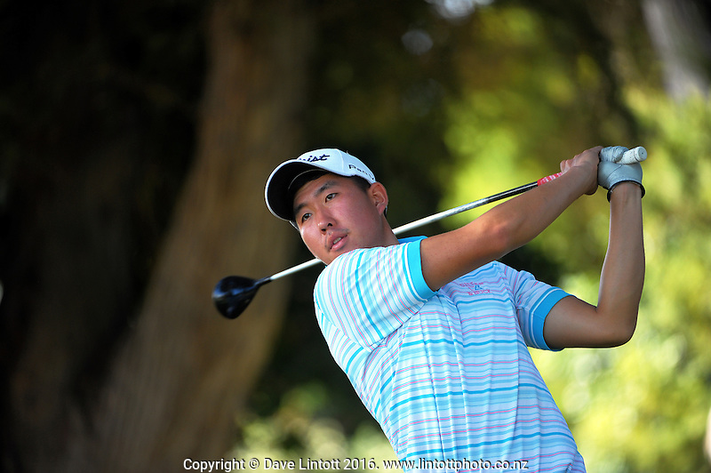 Sam An. The final day of the Jennian Homes Charles Tour Lawnmaster Classic Manawatu Open at Manawatu Golf Club, Palmerston North, New Zealand on Saturday, 20 March 2016. Photo: Dave Lintott / lintottphoto.co.nz
