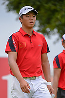 Andy ZHANG (CHN) heads down 12 during Rd 4 of the Asia-Pacific Amateur Championship, Sentosa Golf Club, Singapore. 10/7/2018.<br /> Picture: Golffile | Ken Murray<br /> <br /> <br /> All photo usage must carry mandatory copyright credit (&copy; Golffile | Ken Murray)