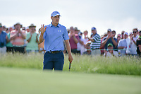 Jordan Spieth (USA) after sinking his putt on 11 during Thursday's round 1 of the 117th U.S. Open, at Erin Hills, Erin, Wisconsin. 6/15/2017.<br /> Picture: Golffile | Ken Murray<br /> <br /> <br /> All photo usage must carry mandatory copyright credit (&copy; Golffile | Ken Murray)