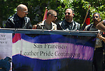 SAN FRANCISCO LEATHER PRIDE CONTINGENT MARCH IN GAY PRIDE PARADE