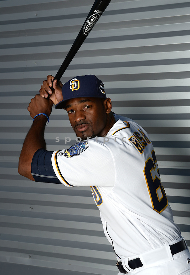 San Diego Padres Jabari Blash (62) during photo day on February 26, 2016 in Peoria, AZ.