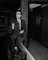 Pierre Roche, pianiste d'Aznavour, au Quebec<br /> , date inconnue - avant 1970<br /> <br /> <br /> PHOTO :  Agence Quebec Presse -  photo moderne