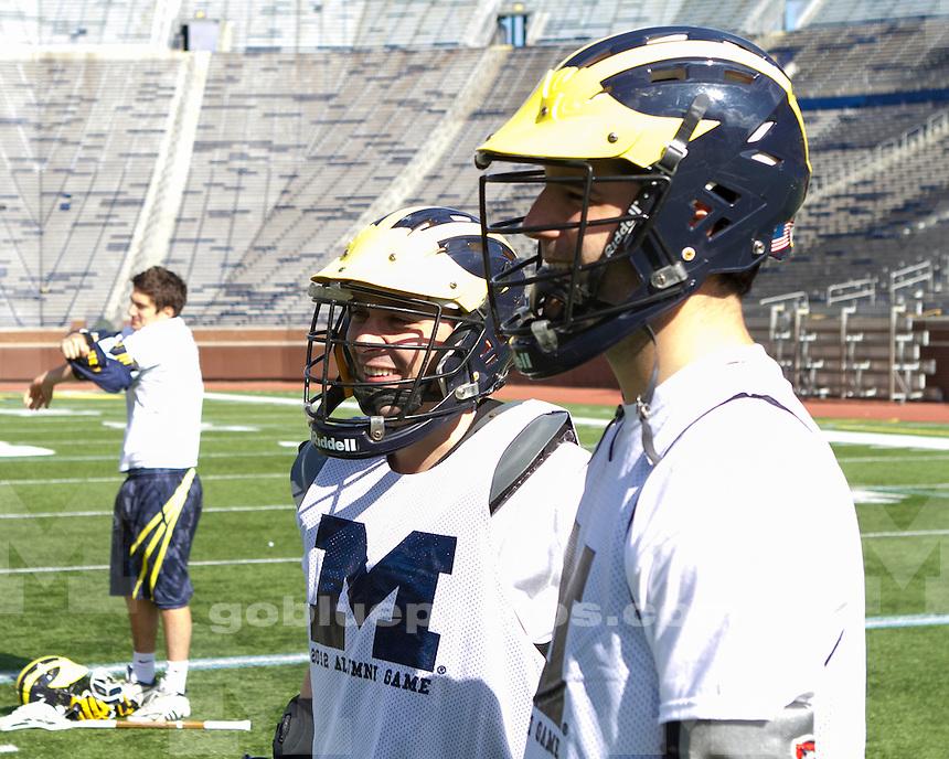 The University of Michigan men's lacrosse 2012 Alumni Game at Michigan Stadium in Ann Arbor, Mich., on October 21, 2012.