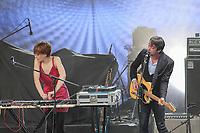 Operators performs at the Festival d'ete de Quebec (Quebec City Summer Festival) Monday July 13, 2015.