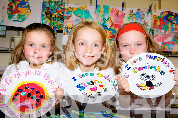 ON A PLATE: Participants in the arts and crafts summer camps at A4 Stationery Supplies in Killorglin last week, l-r: Gra?inne Jones, Si?ofra Foley and Caoimhe Jones.