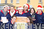 Pupils from Scoil Inbhear Seine, Kenmare who sang carols for the patients in Kenmare Hospital and in Kenmare town to help raise money for St Vincent De Paul front l-r: Sadbh Maybury, Laura Jones. Back row: Layla Mahony, Jasmine Bachofner, Anna O'Connor, Matt Adams, Vada Randles and Padraig Moriarty    Copyright Kerry's Eye 2008