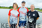 Joan Glover, Tim O'Connell and George Glover from Castleisland at the Tralee Harriers Rose of Tralee 10k in the Tralee Wetlands on Sunday.