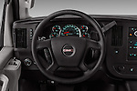 Car pictures of steering wheel view of a 2018 GMC Savana-Cargo Work-Van-2500 4 Door Cargo Van Steering Wheel