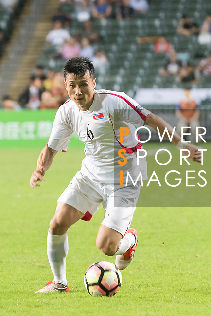 Kang Kuk Chol of Korea DPR in action during the 2019 Asian Cup Qualifier match between Hong Kong and Korea DPR on June 13, 2017 in Hong Kong, China. Photo by Chris Wong / Power Sport Images.