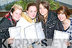 Kerry O'Connor, Lynsay Keane, Rebecca O'Rourke and Lorraine O'Hanlon getting their results at the Presentation Convent Secondary School in Listowel on Wednesday morning.   Copyright Kerry's Eye 2008