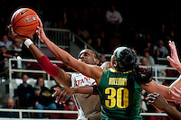 STANFORD, CA-JANUARY 5, 2012 - Nnemkadi Ogwumike finds an opening during PAC-12 conference play against the University of Oregon.