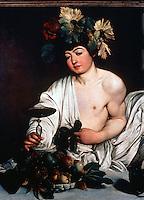 Renaissance Art:  Caravaggio--Adolescent  Bacchus.  Galleria Uffizi.