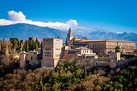 Spanien, Andalusien, Granada: Alhambra, Sierra Nevada | Spain, Andalusia, Granada: Alhambra, Sierra Nevada