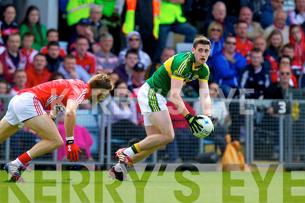 Paul Geaney, Kerry in action against Eoin Cadogan, Cork in the Munster Senior Football Final in Cork on Sunday.