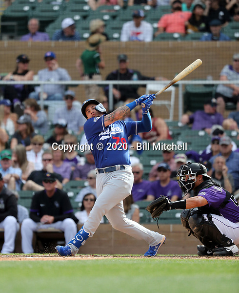 Jacob Amaya - Los Angeles Dodgers 2020 spring training (Bill Mitchell)