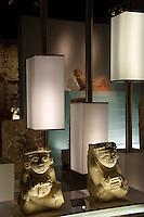 Sculptures from Ek Balam,  Gran Museo del Mundo Maya museum in Merida, Yucatan, Mexico      . .