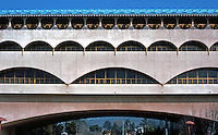 F.L. Wright: Marin County Civic Center. Elevation, N. Wing.  Photo '83.