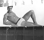 Antonio Sabato Jr. billboards showing his Calvin Klein Underwear ad campaign on June 17, 1997 at the 42nd Street, Times Square in New York City.