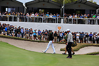 Adam Scott (International) and Matt Kuchar (USA) on the 10th green during the Second Round - Foursomes of the Presidents Cup 2019, Royal Melbourne Golf Club, Melbourne, Victoria, Australia. 13/12/2019.<br /> Picture Thos Caffrey / Golffile.ie<br /> <br /> All photo usage must carry mandatory copyright credit (© Golffile | Thos Caffrey)
