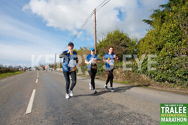 1320 Paula Keating 0172 Hilary Egan 1416 Marian McCarthy who took part in the Kerry's Eye, Tralee International Marathon on Saturday March 16th 2013.