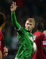 FUSSBALL   1. BUNDESLIGA   SAISON 2013/2014   11. SPIELTAG SV Werder Bremen - Hannover 96                         03.11.2013 Aaron Hunt (SV Werder Bremen) jubelt nach dem Tor zum 1:1