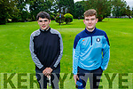 Taking part in the Kerry Mens Pitch & Putt Strokeplay Championships tt the Tralee Pitch and Putt on Sunday. L to r: Lorcan Martin (Deerpark) and Adam Kelly (Deerpark).
