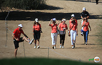 Lots of support for Joost Luiten (NED) during the Final Round of the 2016 Omega Dubai Desert Classic, played on the Emirates Golf Club, Dubai, United Arab Emirates.  07/02/2016. Picture: Golffile | David Lloyd<br /> <br /> All photos usage must carry mandatory copyright credit (&copy; Golffile | David Lloyd)